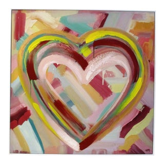"""""""Happy Heart"""" Hand-Embellished Giclee For Sale"""