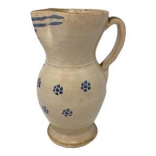 Antique Puglia Apulia Ceramic Pitcher For Sale