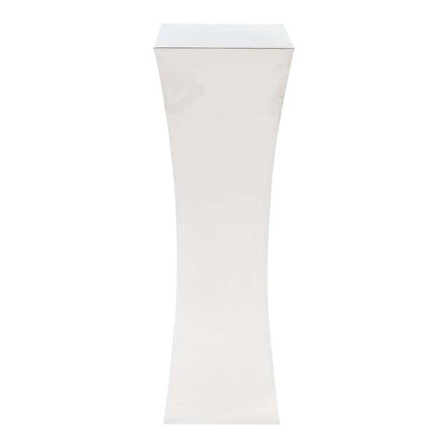 Polished Nickel Concave Pedestal For Sale