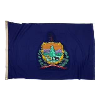 Vintage Cotton Flag of Vermont For Sale