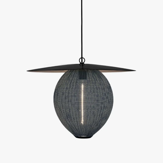 The Satellite Pendant was designed by Mathieu Mategot in 1953 with geometrical shapes and an organic shade to create...