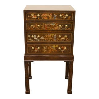 Henredon Asian Chinoiserie Accent Silverware Chest For Sale