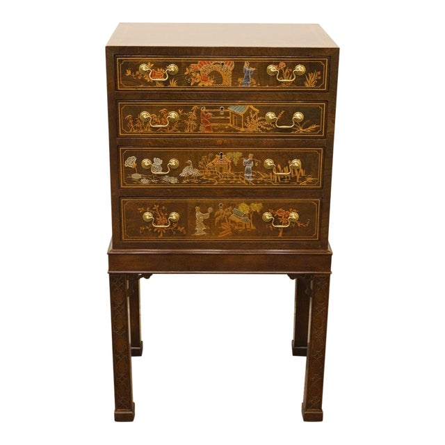 Henredon Asian Chinoiserie Accent Silverware Chest