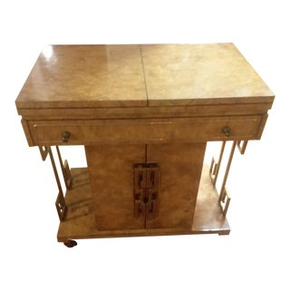 Master Craft Burl Bar Cart