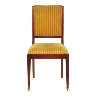 1920s French Regency Style Dining Room Chairs With Gold Velvet Upholstery, Set of 6 For Sale