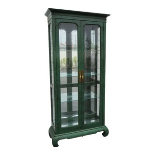Hollywood Regency Painted China Display Cabinet by American of Martinsville 1278 For Sale
