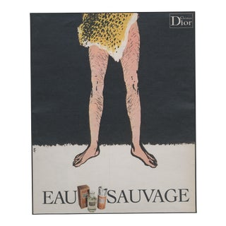 Kitsch Mid-Century Dior Print for Men by Gruau For Sale