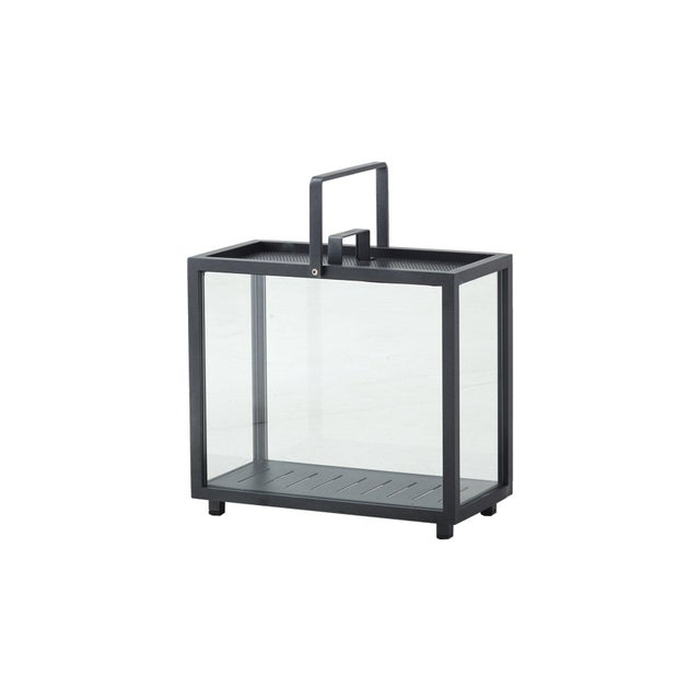 Cane-Line Lighthouse Rectangular Lantern, Lava Gray For Sale - Image 6 of 6
