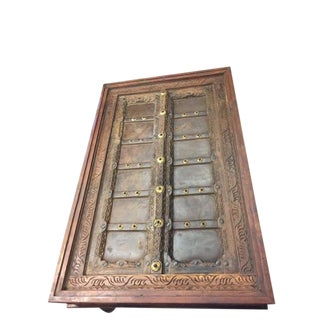 Antique Coffee Table Haveli Door Carved Chai Tables