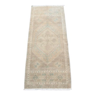 Tribal Vintage Oushak Turkish Muted Tone Carpet -1′6″ × 3′6″