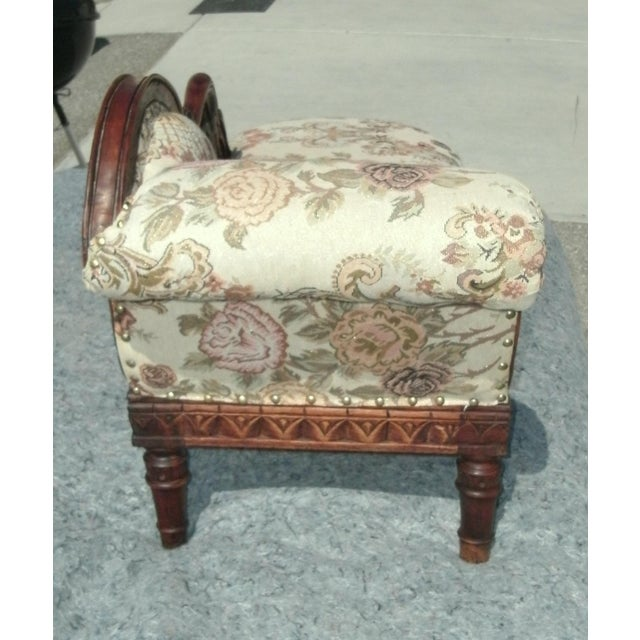 Child Size Victorian Style Swan Chaise Lounge For Sale - Image 4 of 8