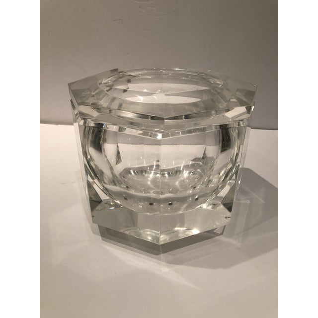 Transparent 1970's Lucite Ice Bucket by Alessandro Albrizzi For Sale - Image 8 of 8