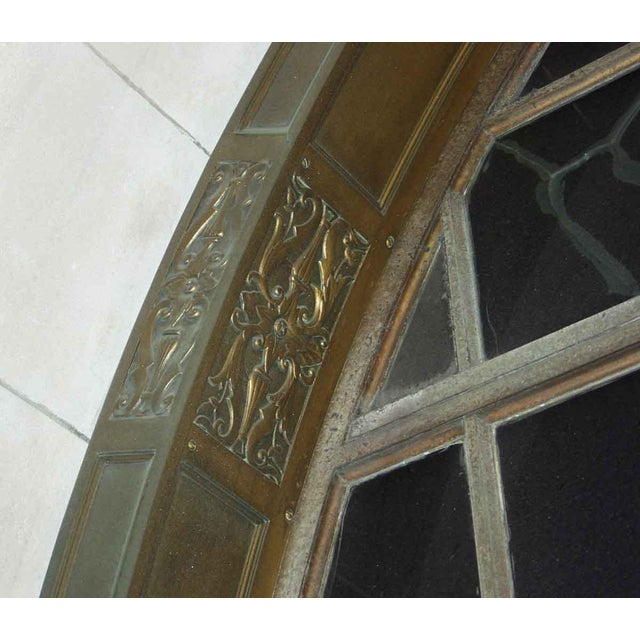 Neoclassical Ornate Bronze Palladian Window Transom For Sale - Image 3 of 10