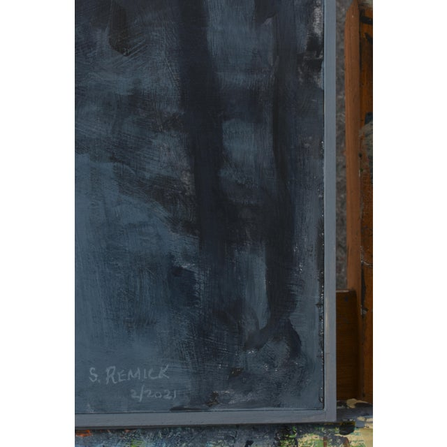 """2020s """"Turning Into the Night"""" Contemporary Abstract Landscape Acrylic Painting by Stephen Remick For Sale - Image 5 of 11"""