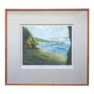 Point Reyes California Colored Etching by Phyllis Taplitz For Sale