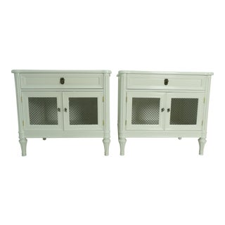 Henredon French Regency Style White Finished Nightstands - a Pair For Sale