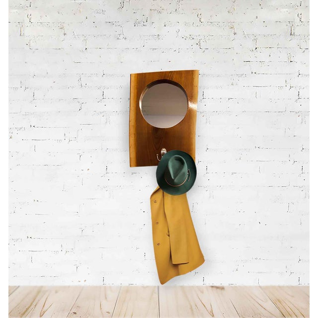 Modern country mirror. Perfect for your everyday home or cabin getaway. Handcrafted Heirloom, Walnut Live Edge Slab...
