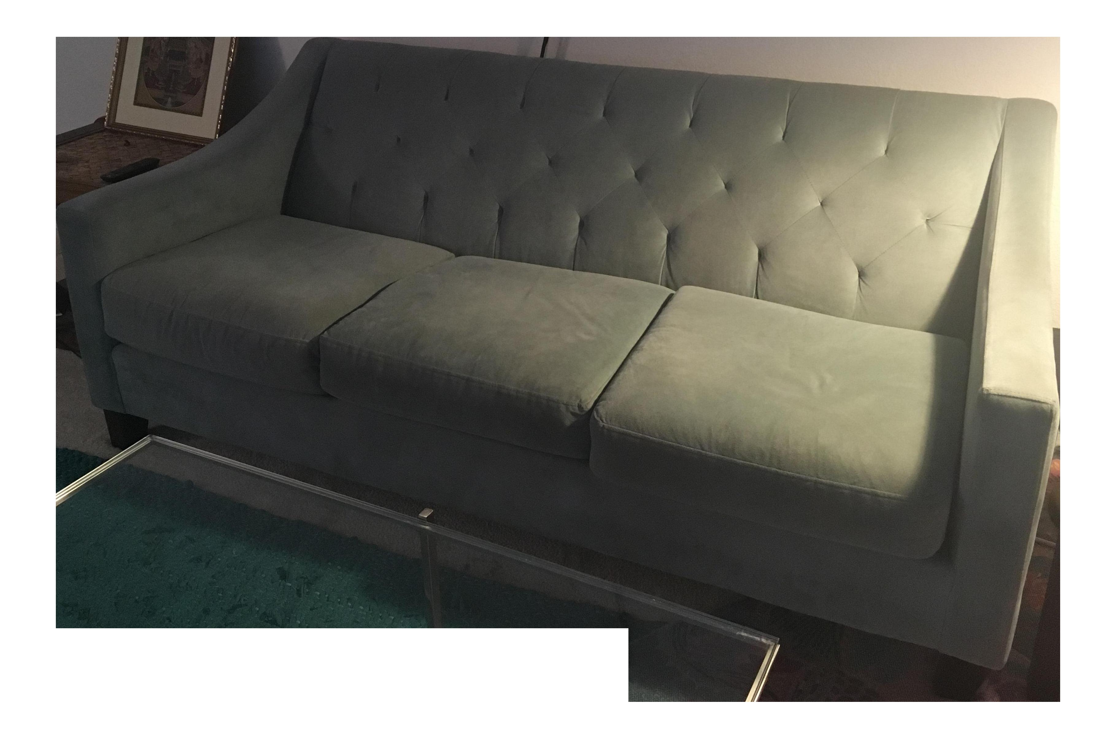 Perfect Sky Blue Microfiber Sofa