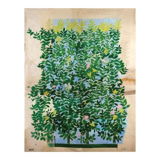 Paule Marrot, Green Leaves, Unframed Artwork For Sale