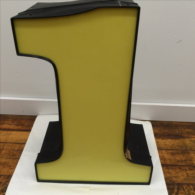 """Yellow Number """"1"""" Signage - Image 3 of 8"""