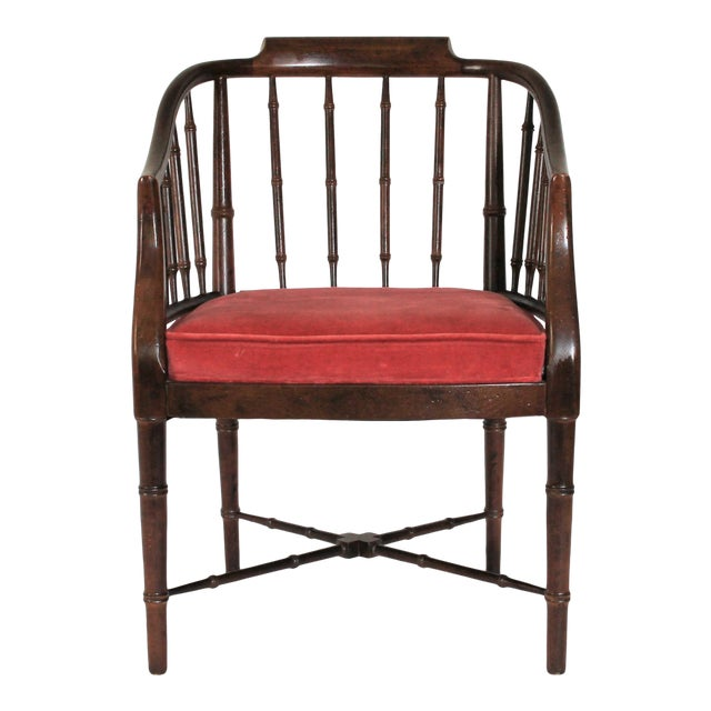 Faux Bamboo Armchair - Image 1 of 8