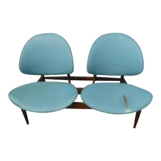 1960's Mid-Century Modern Kodawood Clamshell Bench Chairs For Sale