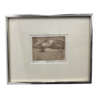 """Patchwork"" Original Artist Proof Etching by Tim Armour For Sale"