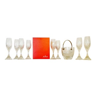 Baccarat Massena Champagne Flutes & Ice Bucket - Set of 8 For Sale