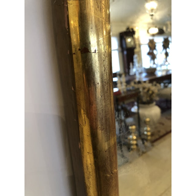 19th Century Antique Water Giltwood Arch Shaped Mirror For Sale In Philadelphia - Image 6 of 11