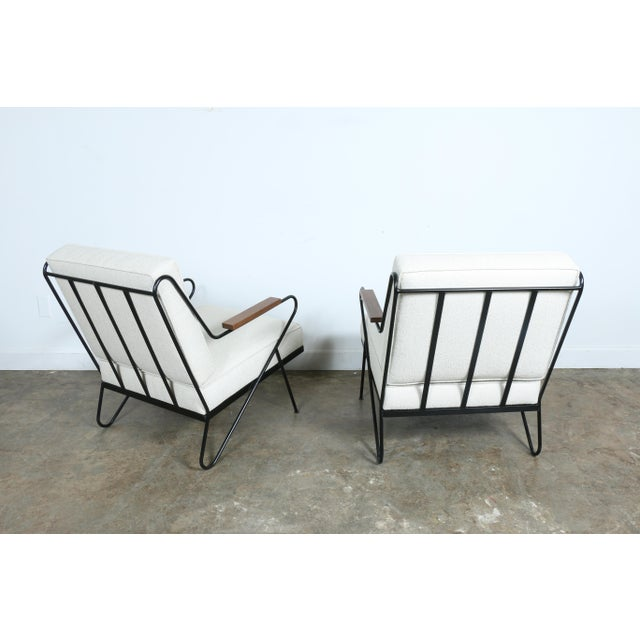 Wrought Iron Modern Chairs - A Pair - Image 7 of 9