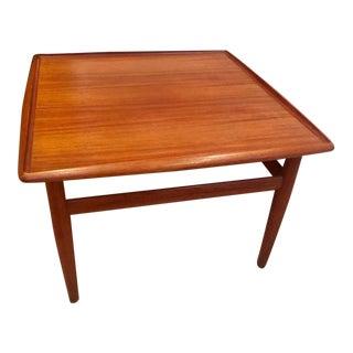 1960s Danish Modern Grete Jalk Teak Cocktail Table For Sale