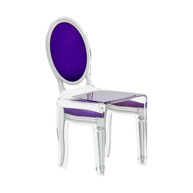 "Purple Acrylic ""Sixteen"" Chair For Sale"