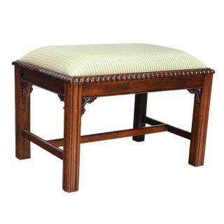 Chippendale Bench With Cross Stretchers For Sale