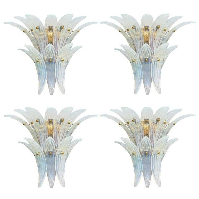 Fabio Ltd. Opaline Palmette Sconces (2 Pairs Available) For Sale - Image 9 of 9