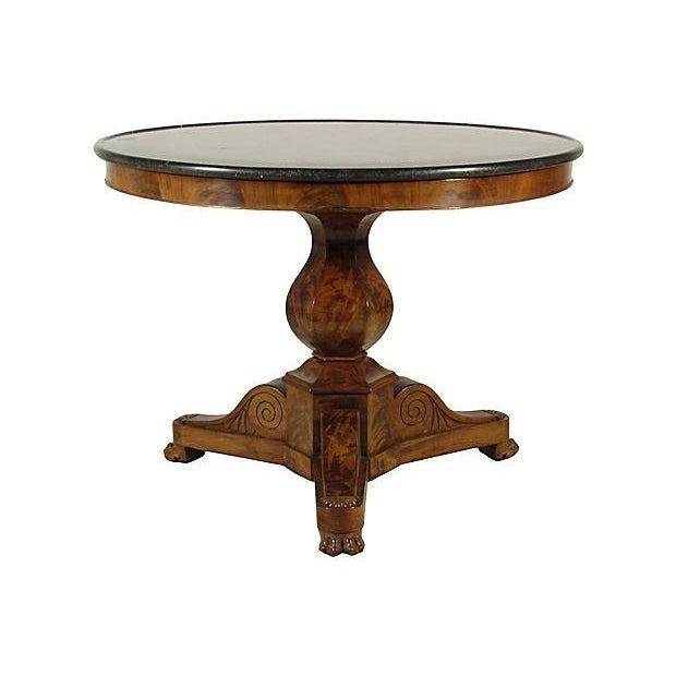 19th Century Louis Philippe Marble Center Table - Image 2 of 6