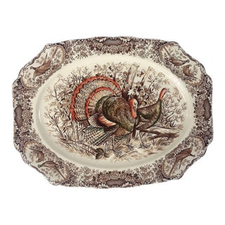 English Transferware Large Platter, Native American by Johnson Brothers For Sale