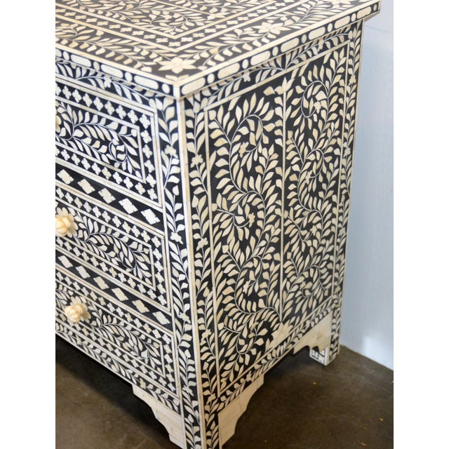 Boho Chic Moroccan Inspired Bone Inlay Dresser For Sale - Image 3 of 7