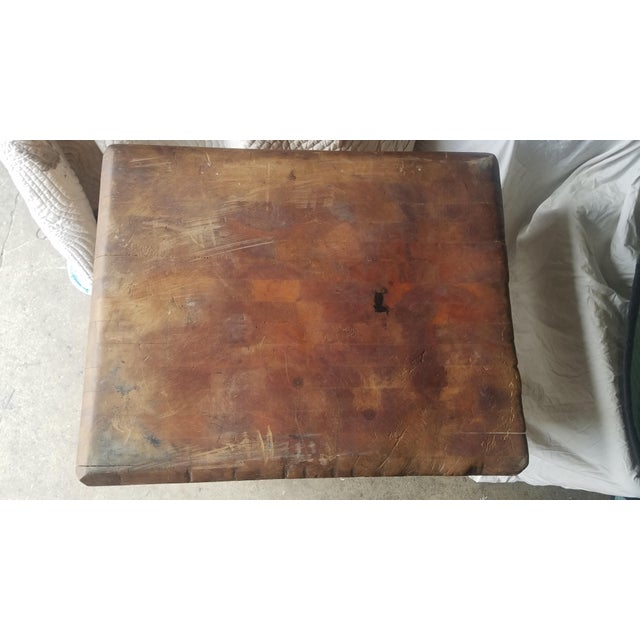 Early 20th Century Antique Butcher Block For Sale In Boston - Image 6 of 13
