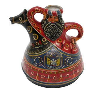 Hand Painted Polish Tea Pot / Decanter