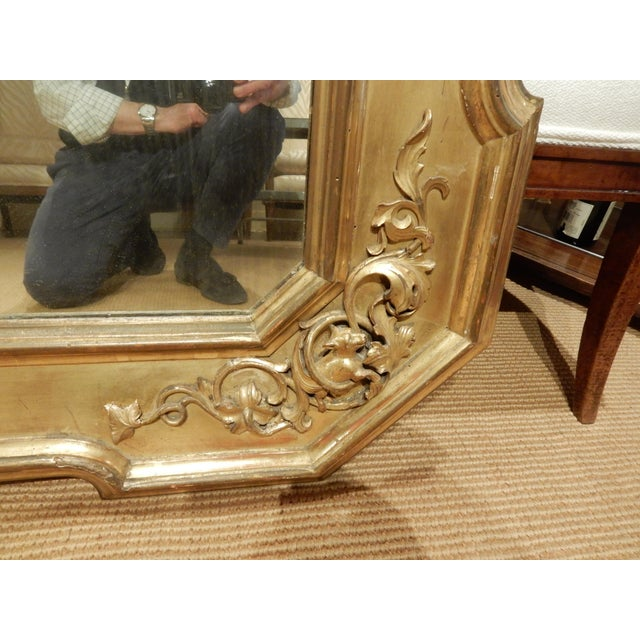Early 19th Century Early 19th Century Italian Gold Gilt Mirror For Sale - Image 5 of 9