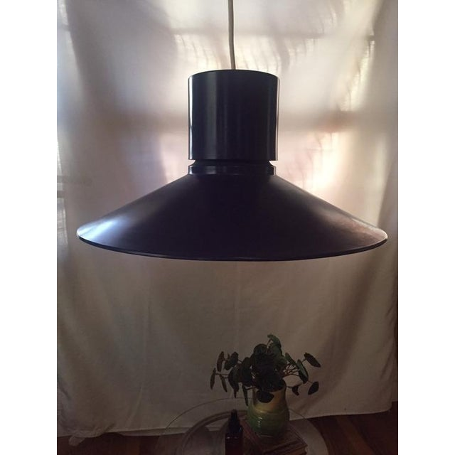 1960s 1960s Danish Modern Bright Blue Lightolier Hanging Pendant Lamp (2 Available) For Sale - Image 5 of 9