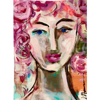 Sweetheart #25 Abstract Portrait by Julie Hansen