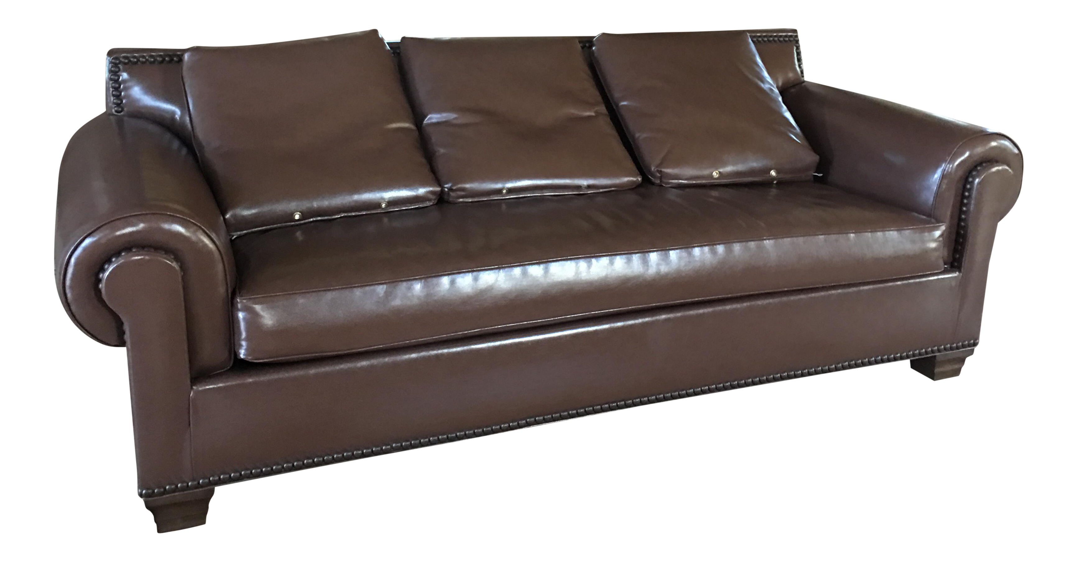 Kravet Vegan Leather Sofa