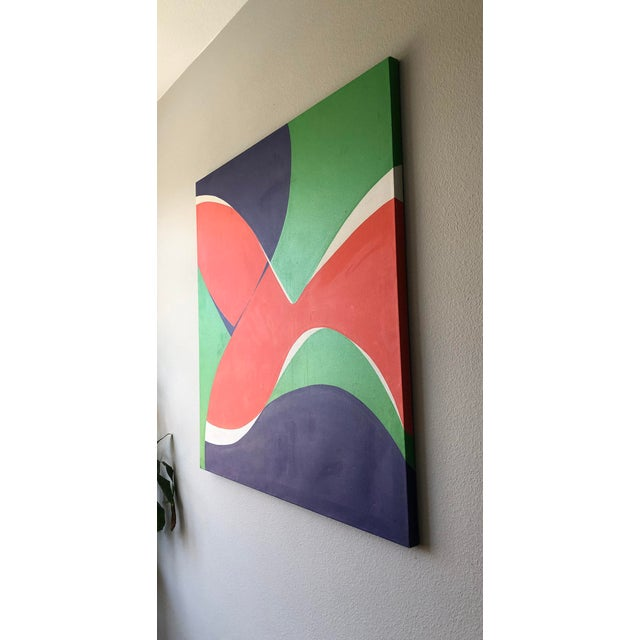 """Abstract Monumental Modern Acrylic on Canvas, """"Vibrations"""", Betty Usdan-Zwickler, 1982 For Sale - Image 3 of 6"""