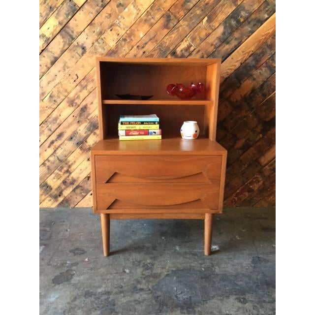 Mid-Century Sculpted Drawer Nightstand - Image 6 of 6