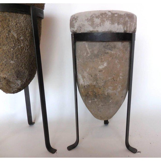 Gray Pair of 19th Century Stone Water Filters on Bases For Sale - Image 8 of 10