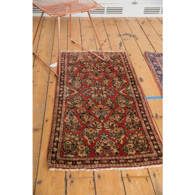 "Old New House Vintage American Sarouk Rug Runner - 2'2"" X 4'2"" For Sale - Image 4 of 11"