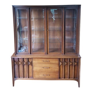 Mid-Century Vintage Kent Coffey Perspecta Breakfront China Cabinet