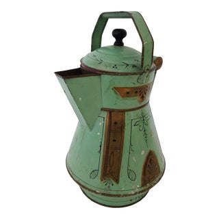 19th Century Toleware Water Kettle For Sale