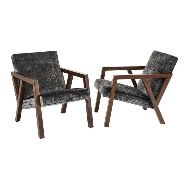 Wood Modern Walnut Moda Chair For Sale - Image 7 of 8